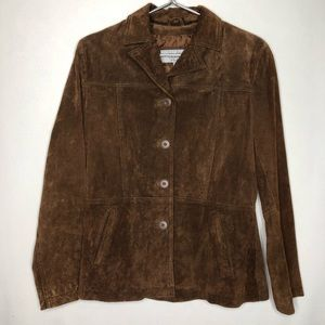 Wilson's Leather Maxima Brown Leather Suede Jacket